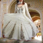 Party wear frocks in white color