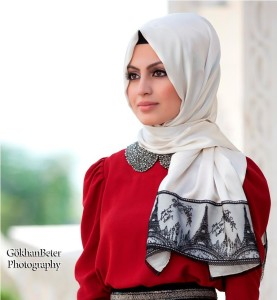 Silk hijab designs 2013
