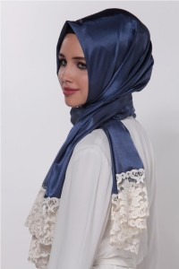 Simple silk hijab designs