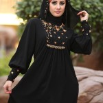 Stone work abaya designs