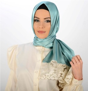 Stylish hijab designs in silk