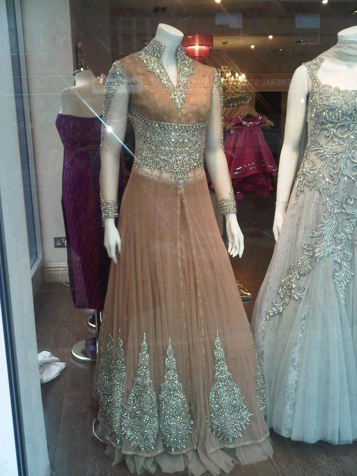 Bridal wedding gown designs in Pakistan - maxi style gowns