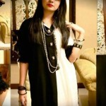 mono chrome girls kurta designs