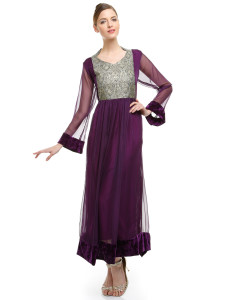 Chiffon party wear dresses