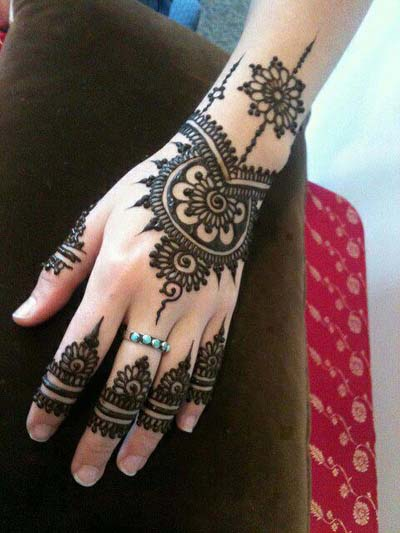 Indian eid mehndi design patterns 2013