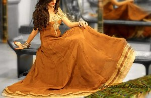 Pakistani formal party wear dresses 2013