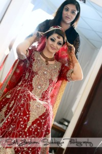 Red Pakistani bridal maxi 2013