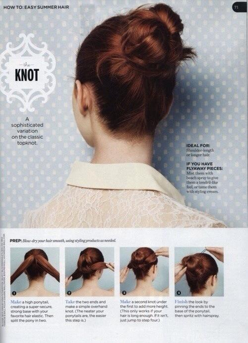 Steps of quick easy hairstyles