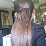 Tie back hairstyles 2013