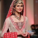 Zaheer Abbas bridal dresses in red color