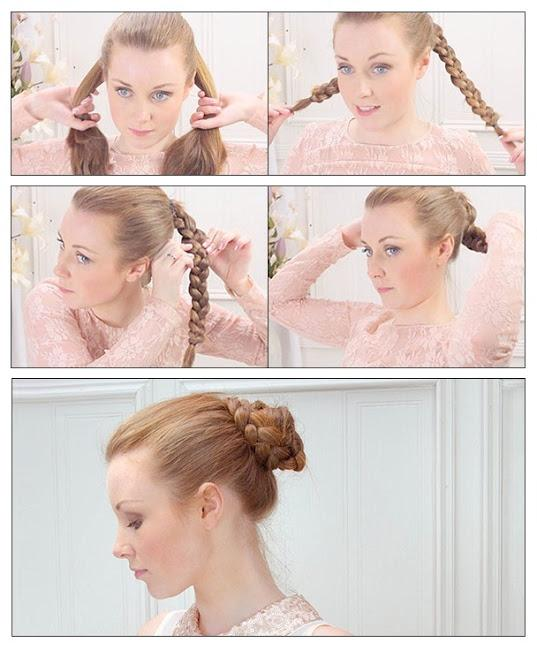 braided bun easy hair style