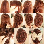 Curvy hair braid for long hairs