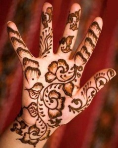 Henna Hand Decoration