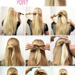 Pony long hairstyles 2013