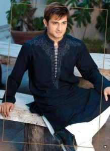 Black kurta style for Eid Pakistan