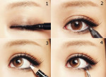How to apply eye liner to make eyes oval