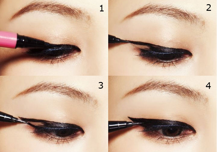 how to apply eye liner according to your eye shape eye liner styles. Black Bedroom Furniture Sets. Home Design Ideas