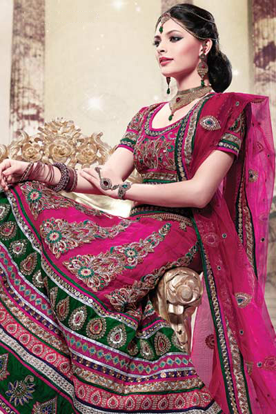 Indian bridal lehnga choli 2013