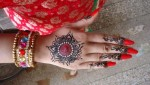 Indian red mehndi designs for eid