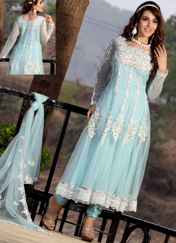 Frock fashion for women indian frock designs for women for Net designs