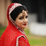 Pakistani bridal makeup 2013 in red color