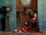 Red and black dress design anarkali frock