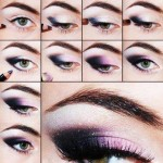 Steps of how to make smokey eyes