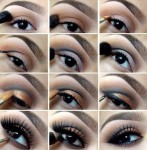 Steps of smokey eyes make up
