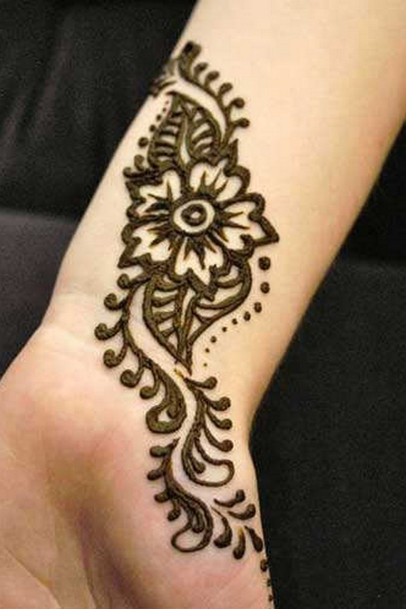 Mehndi Wrist Quote : Black nail designs