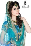 pakistani bridal makeup 2013 green dress