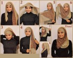 How to wear hijab on asian face