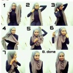 How to wear hijab on round face