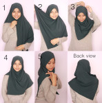 How to wear simple hijab