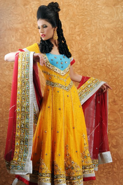 Bridal Mehndi Clothes 2013 U2013 Buy Mayoon Dresses Online