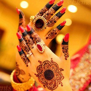 Traditional bridal henna designs