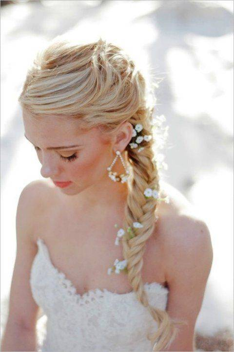 Accessorized neat fishtail braid