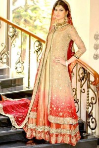 New Pakistani bridal dress for first day
