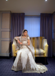 White bridal walima Dress