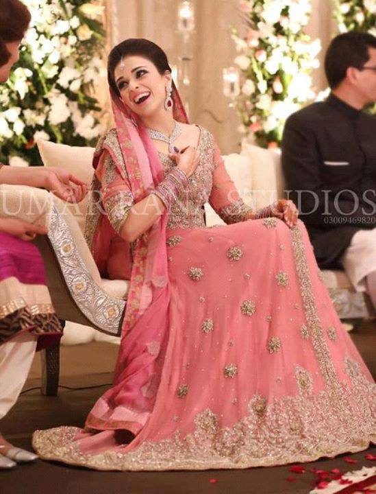 bridal walima dress pink