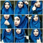 Hijab style for long face