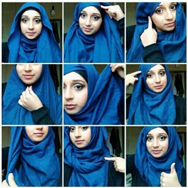 How To Wear A Square Scarf As Hijab | Apps Directories