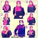 Hijab style for square face