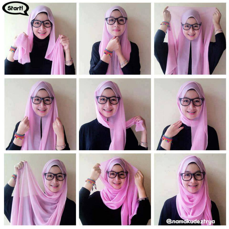New Hijab Style Trendy Malaysian Hijab Style Collection 2014