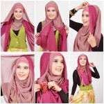 hijab for square face