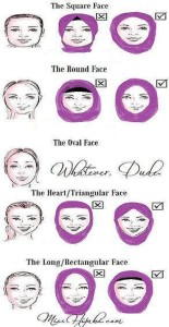 hijab styles for your face