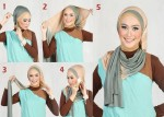 how to wear hijab for triangular face