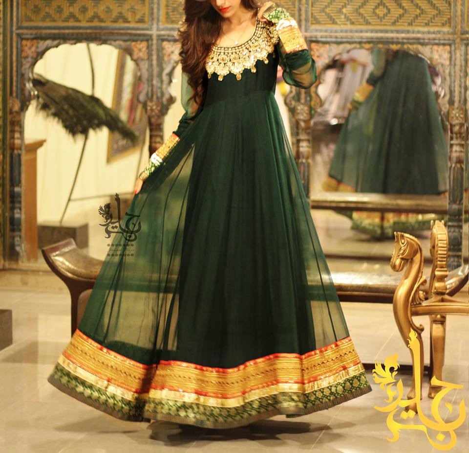 Fancy Dresses By Jannat Nazir - Party Wear collection 2014