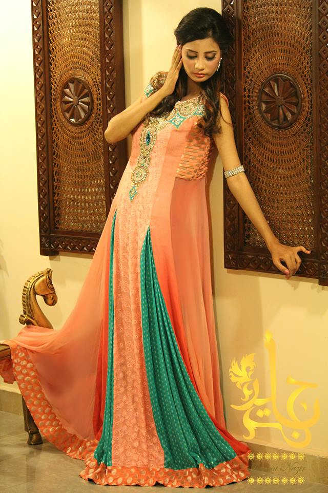 Fancy Dresses By Jannat Nazir Party Wear Collection 2014