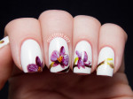 nail art design radiant orchid