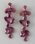radiant orchid ear rings